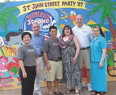 St  John Hosts Street Party Benefit for New Stroke Center